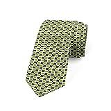 Tcerlcir Corbata Para Hombre Con Mini Rectángulos Simétricos, Verde Lima, Gris Topo, Poliéster, Boda, Clásica, Para Negocios, Corbata De Negocios