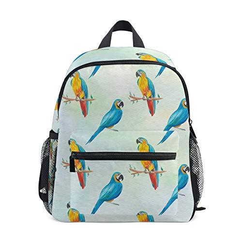 MONTOJ Parrot sur Une Branche Sac d'école pour garçons Pliable d'école Sac à Dos
