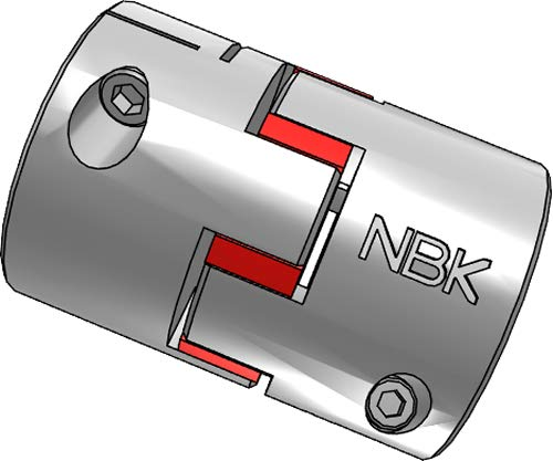 NBK MJC-55CS-RD-9.525-15 16 Jaw Outlet ☆ Free Shipping Type Coupling Columbus Mall Flexible Clamping