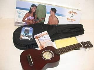 Kohala KO-S Kine'O Soprano Ukulele, Mahogany Body, Includes Matching Lanikai HSS611 Padded Gig Bag & CO-UT Tuner, Instruction Booklet & TMS Polishing Cloth