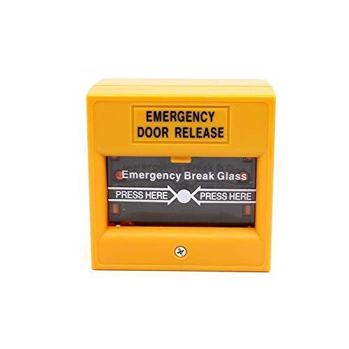 Botón amarillo del lanzamiento de la puerta de la emergencia de la rotura de cristal del botón de la salida