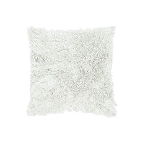 Zons Coussin Fausse Fourrure 45x45cm Blanc