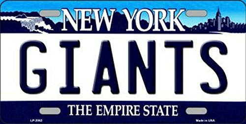 TammieLove New License Plate giants new york state background novelty License Plate Sign 15x30 CM