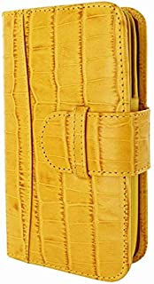 Piel Frama 678 Yellow Crocodile Leather Wallet for Apple iPhone 6 / 6S / 7/8