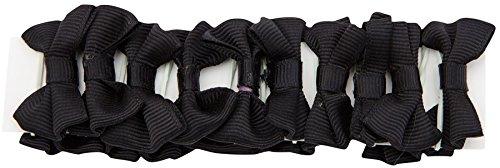 invlechtstrikjes zwart 20 stuks 2,5 cm