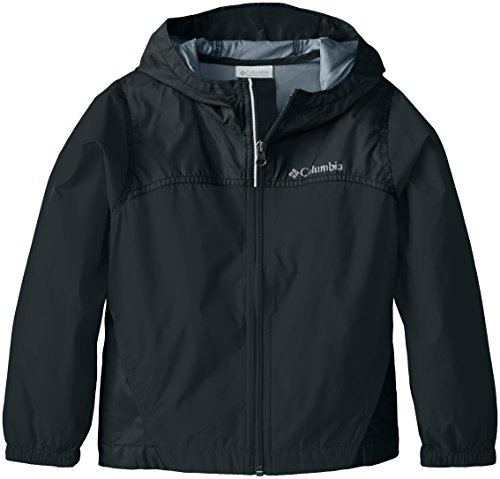 Columbia Toddler Boys' Glennaker Rain Jacket, Black, 3T