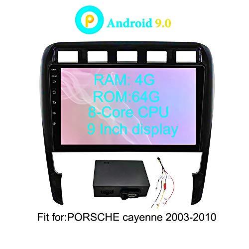 XISEDO Android 8.0 Autoradio In-Dash 9 Zoll Car Radio 8-Core RAM 4G ROM 32G Autonavigation Car Radio mit Multitouch-Bildschirm für Porsche Cayenne (2003-2010) Unterstützt Lenkradkontrolle, RDS