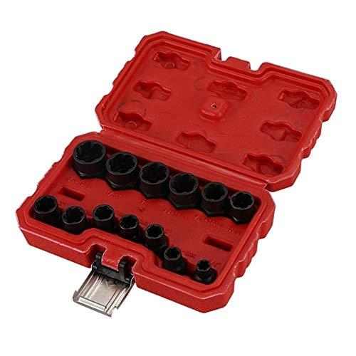 OYWNF 13pcs Tuerca del Perno removedor Stud Extractor Juego de Dados (9-19Mm) (Color : Black, Size : Other)