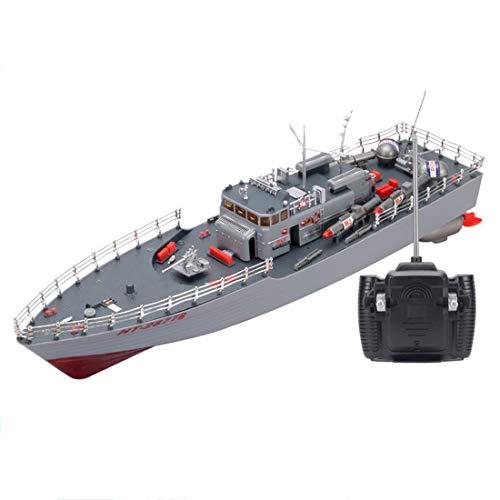 K9CK RC Boot 4WD Torpedoboot Fernsteuerung 2.4GHz 1/115 Speedboot Ferngesteuert Kriegsschiff Spielzeug Boot für Kinder
