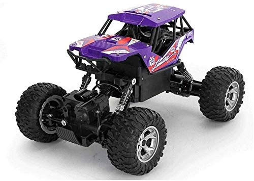 ZDHHD 1:16 Crawler Truck 2.4Ghz Radio RC Racing Cars 4WD Electric Fast Race Buggy Hobby Car Toy for Kids Boy Girl Remote Control Off-Road Rock Vehicle ( Color : Purple , Size : 3-Battery )