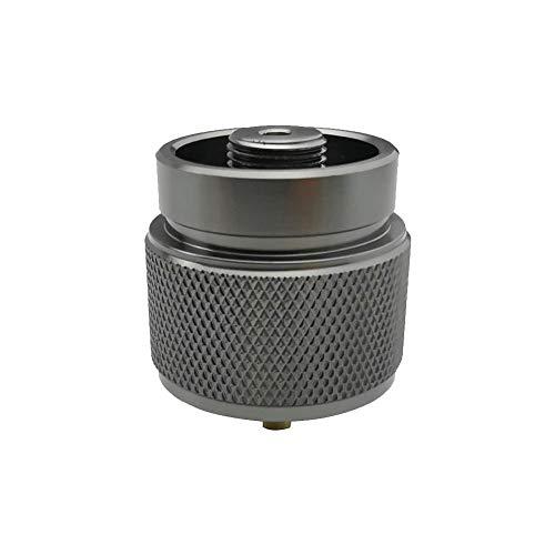 Riosupply - Juego de 2 Botes de Gas para Acampada, Estufa de Gas butano, convertidores de depósito de Gas propano Manp, Adaptador para Estufa de Camping al Aire Libre con función de Cierre automático