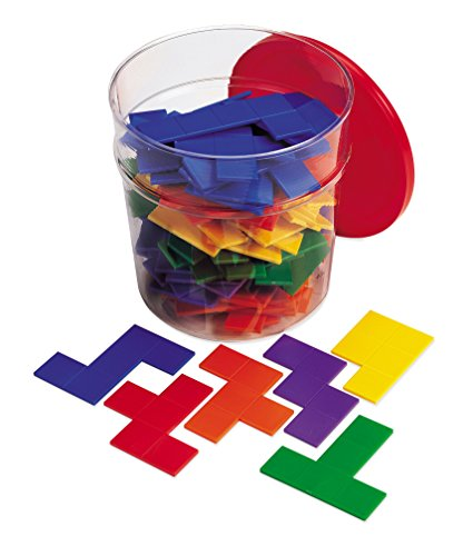 Learning Resources LER0286-6 Rainbow Pentominos in Regenbogenfarben