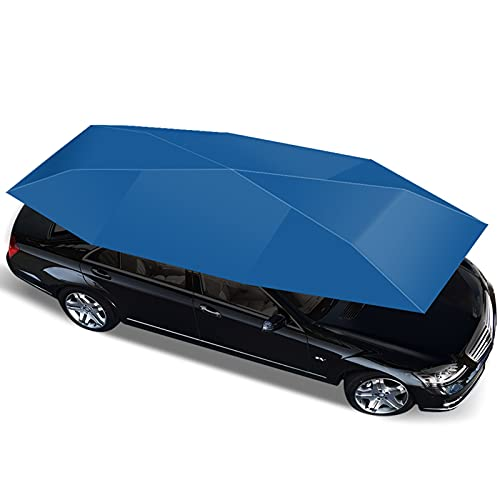 Fundas para Coche Toldo móvil Universal para automóvil, toldo para sombrilla para automóvil, Parasol para automóvil semiautomático y a Prueba de Viento para SUV, MPV, etc. (4,8m) (Color : Blue)