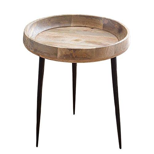 Invicta Interior Massiver Beistelltisch Pure Nature 47cm aus Mangoholz Holztisch Nachttisch Tisch Massivholz