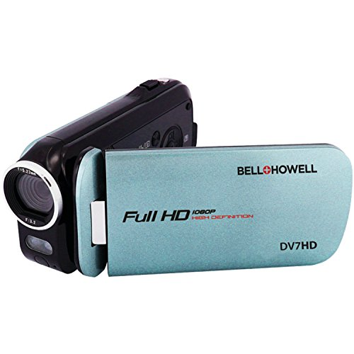 Bell+Howell DV7HD-BL Slice2 HD Video Recording Slice2 DV7HD Full 1080p HD Camcorder with Touchscreen and 60x Zoom