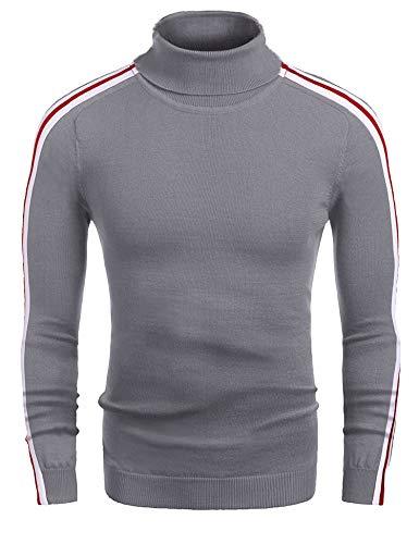 COOFANDY Herren Rollkragen Pullover Langarmshirt Feinstrick Sweater Freizeit Slim fit Basic Männer Pullover