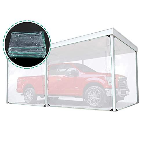 XKUN Transparent, Wasserdicht Abdeckplane Carport Regensicher Staubdicht PVC Plastik Uuml;berdachung Startseite Mit Ouml;Sen (Color : Clear, Size : 2M X 2M)