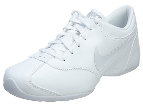 Nike New Women's Cheer Unite Sneakers White/Silver/White 5.0