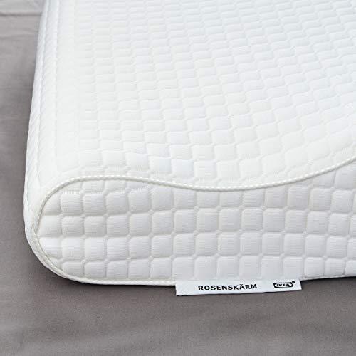 IKEA ROSENSKÄRM Ergonomisches Kopfkissen, Seiten-/Rückenschläfer 50x12 cm