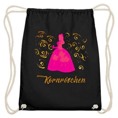 Générique Corn Party Korn Design simple et amusant en coton Gymsac - Noir - Noir, 37cm-46cm