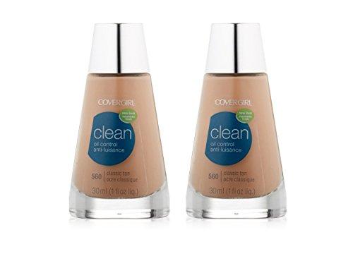 COVERGIRL Clean Matte Liquid Foundation, 560 Classic Tan, 1 oz