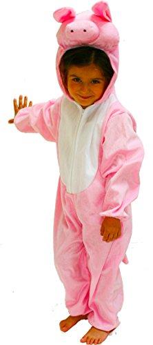 Fun Play Pig Costume de Cochon pour Les Enfants - Fancy Dress Animal Onesie pour garçons et Filles - Costumes pour Les Medium 3-5 Ans (110 CM)
