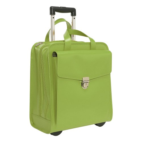 Milano 15.5' Vertical Laptop Case with Wheels Color: Green