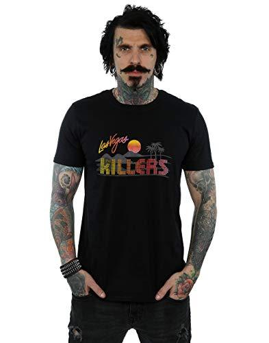 Absolute Cult The Killers Hombre Retro Las Vegas Camiseta Negro Large