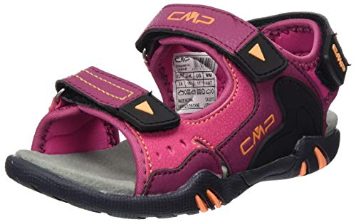CMP – F.lli Campagnolo Kids Alphard Hiking Sandal, Randonnée Mixte Enfant, Pink Goji Solarium 16HE, 35 EU