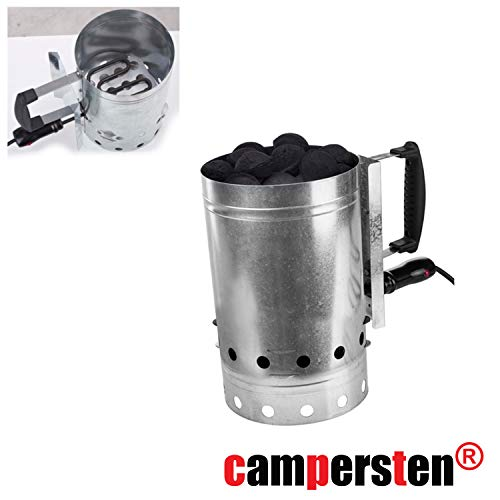 Elektrischer Grillanzünder | Kohleanzünder für 2Kg Grillkohle | 600 Watt Leistung | Einfach zu bedienen