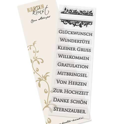 Clear Stamp-Set Stempel-Gummi - Karten-Kunst Eingerahmte Worte 2