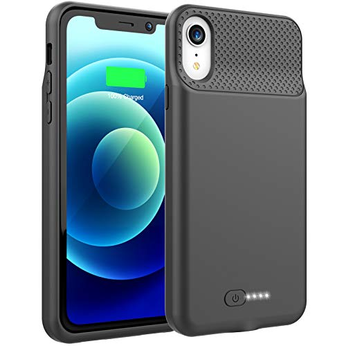BOPPS Battery Case for iPhone XR, 6000mAh Portable Charging Case for iPhone XR, Rechargeable Backup External Battery Pack Extended Battery Protective Charger Case, (6.1inch)