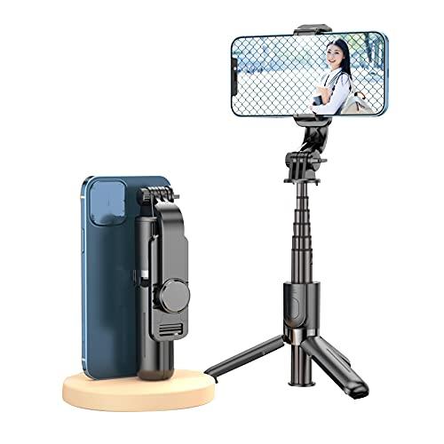 WY7 Handy Ständer,Live Sechsteiliger Stab Aus Aluminiumlegierung Einteiliger Multifunktionaler Selfie-Stick Universelles Stabiles Stativ,Schwarz
