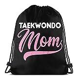 Vicky Taekwondo MOM. Mochila de Viaje con cordón para Gimnasio, tamaño Talla única