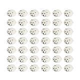 Amosfun 50 huevos artificiales para pájaros, bolas de espuma falsas, para manualidades, para Pascua, boda, decoración de micropaisajes