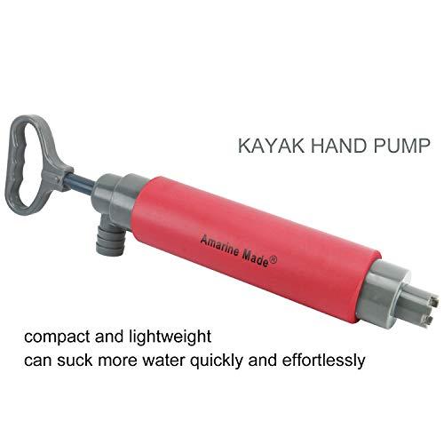 Amarine Made Kayak Bilge Pump Hand Pump Floating Hand Bilge Pump for Kayak Rescue (A)
