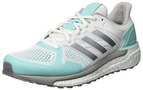 adidas Damen Supernova ST Laufschuhe, Weiß (Footwear White/Silver Metallic/Energy Aqua), 38 EU