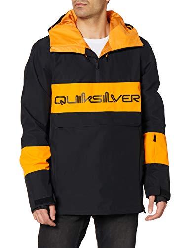 Quiksilver Steeze - Chaqueta Shell Para Nieve Para Hombre Chaqueta Shell Para Nieve, Hombre, true black, XS