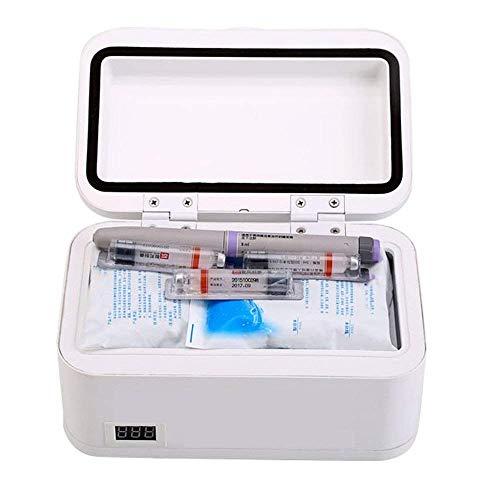 Medicina Nevera refrigerador de la insulina refrigerador portable termostato mini-nevera refrigerador de la insulina y la insulina refrigerada Refrigerador (20.5X13.5X10.5Cm (8.07X5.31X4.13Inch) de al