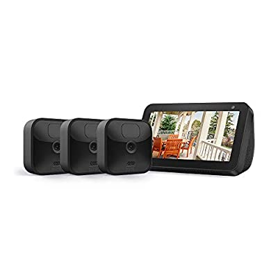 Echo Show 5 (Charcoal) with All-new Blink Outdoor- 3 camera kit from