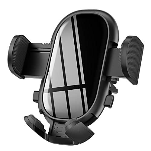 Soporte para teléfono de coche, ventilación de aire para coche, con botón de liberación doble, clip ajustable, estabilizador antivibraciones, soporte para teléfono compatible con iPhone 12 11 pro/11 Pro max/XS/XR/X/8/7, Galaxy y más
