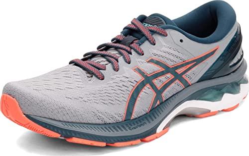ASICS Men's Gel-Kayano 27 Running Shoes, 10.5, Sheet Rock/Magnetic Blue