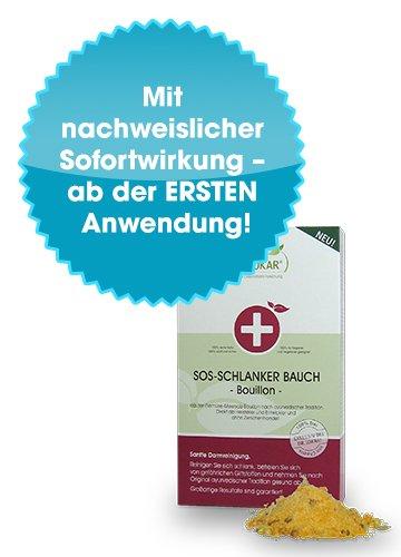 SOS-Schlanker-Bauch von Dr. Jokar 1 Monatskur (90g Bouillon) zur optimalen Entschlackung des Magen-Darm-Trakts mit 13 ayurvedischen Kräutern. Endlich einfach abnehmen. Deutsche Herstellung.