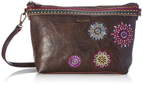 Desigual Accessories PU Across Body Bag, Bolsa para Cuerpo Mujer, marrón, U