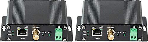 DCT IP ネットワークカメラ用 同軸 LAN コンバーター PoE機能搭載 エクステンダー 同軸ケーブルでLAN接続が可能 PoE機能搭載で長距離(900mまで延長可能)同軸ケーブルを活用しながら、IPカメラの導入を実現化 ネットワークカメラの電源工事が不要 DCT-110P-T/R