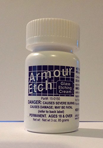 Armour Etching Cream for Etching Designs in Glass and Mirrors is Safe and Easy to Use (Pkg/1)