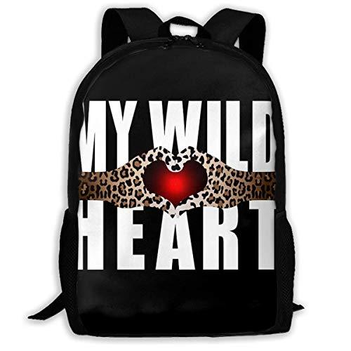 Hangdachang School Backpack My Wild Heart Bookbag Travel Bag Casual for Teenagers Boys Girls