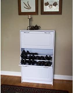 4D Concepts Deluxe Triple Shoe Cabinet White