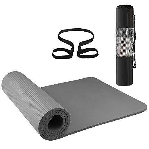 Lixada Yogamatte rutschfest 72x24in Umweltfreundlich Fitness Pilates Gymnastik Mat Aufbewahrungstasche und Carry Sling