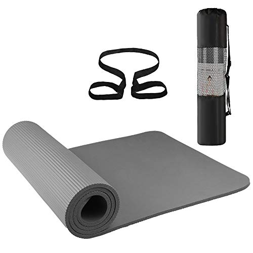 Lixada Esterilla de Yoga Antideslizante NBR Material Medioambiental con Bolsa Cuerda para Fitness Pilates Gimnasio